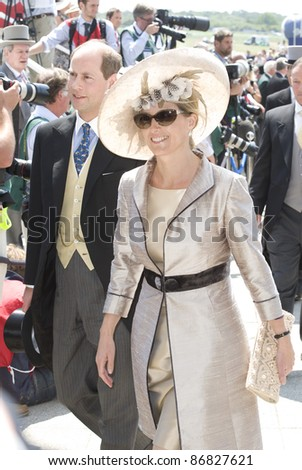 Prince Edward and Sophie Wessex attending The Epsom Derby Meeting at Epsom Downs Racecourse in Surrey. 4th June 2011.  05/06/2011  Picture by: Simon Burchell / Featureflash