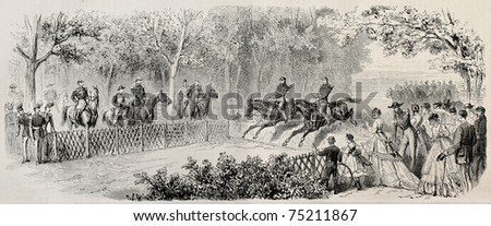 Prince Imperial Louis Napoleon Bonaparte visiting Saint-Cyr French Military Academy. Created by Janet-Lange and Cosson-Smeeton, published on L'Illustration, Journal Universel, Paris, 1868