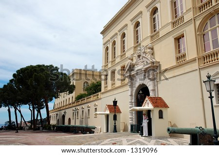 Prince Palace in Monaco, France