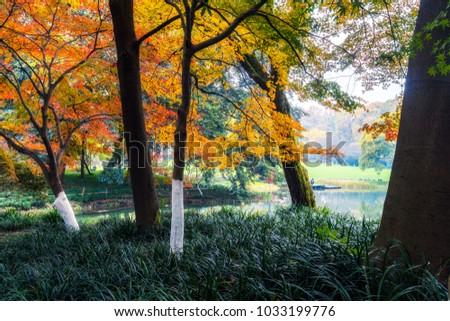 Prince Park in Hangzhou Park - Shutterstock ID 1033199776