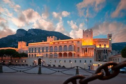Prince's Palace of Monaco, the official residence of the King