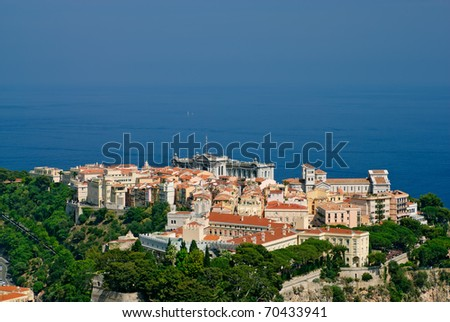 Princely palace, Cathedral and Oceanography museum in Monaco old town