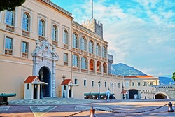 Princes Palace of Monaco - official residence of the King in Monaco-Ville