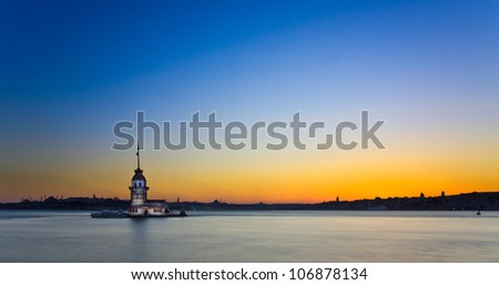 Princess Island in Istanbul, at sunset, panoramic view, known as Prens Adalar? in Turkish