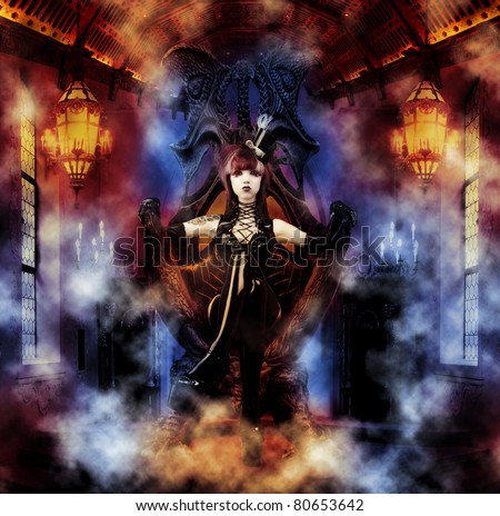 Princess of the Underworld - Dark Princess on her Throne