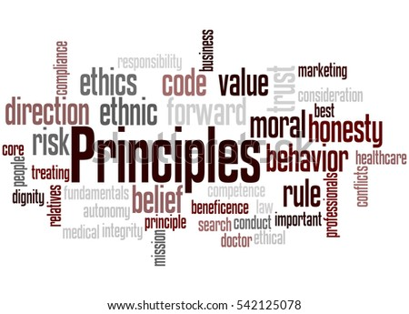 Principles, word cloud concept on white background. Сток-фото ©
