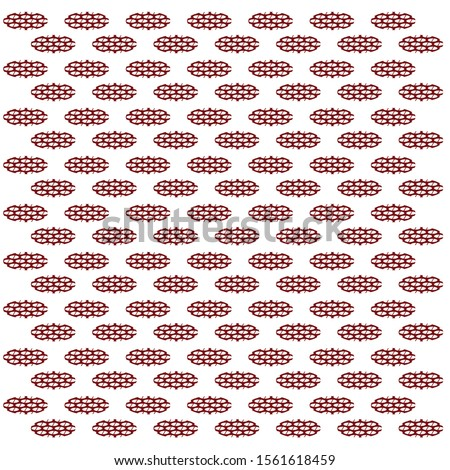 print oval with slant oval gap mesh in red colour