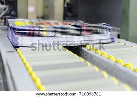 Print shop press printing magazine finishing line