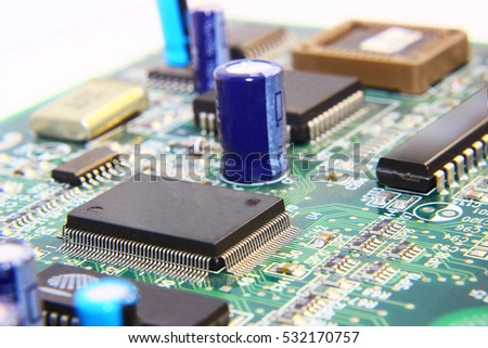 printed circuit board with many ...