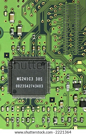 Printed circuit board with mounted IC