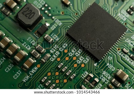 Printed Circuit Board with SMD & IC mounted part on board #1014543466