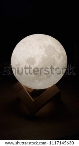 printed moon night light #1117145630