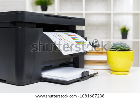 Photo of  printer in office