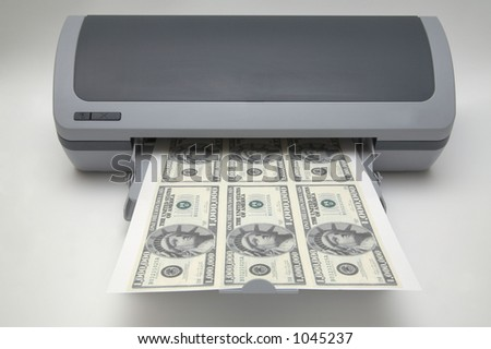 Printer with 1000000 dollar bills
