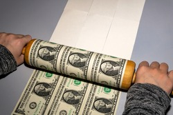 printing dollars at home during the economic crisis