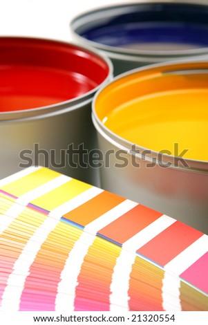 Printing inks, cyan, magenta, yellow