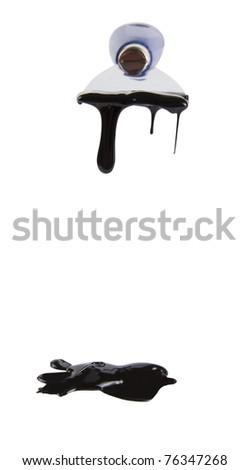 Printing press color, black - stock photo