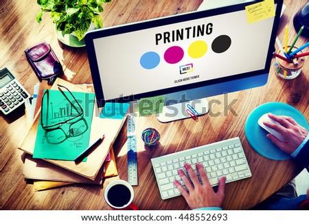 printing process offset ink...