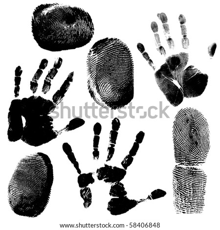 Printout of human hand with unique detail