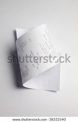 Printout paper rolls - stock photo