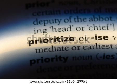 prioritize word in a dictionary. prioritize concept.