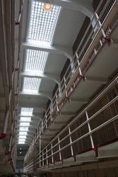 Prison cell block jail bars