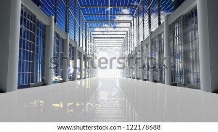 Prison tunnel through the sky