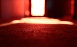 prison window in blurred effect