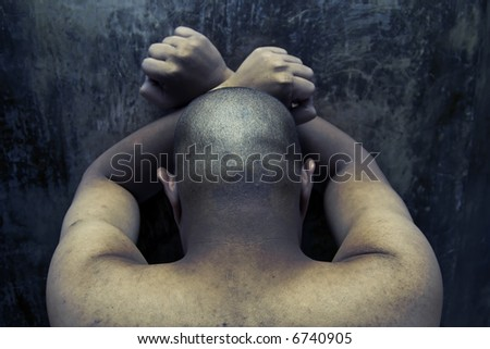 prisoner inside a jail