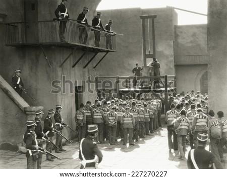 prisoners prepare for execution ...