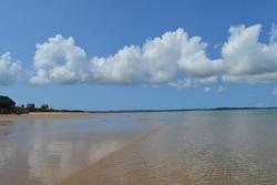 Pristine and Turquoise Portuguese Island beach near Inhaca Island in Maputo Mozambique