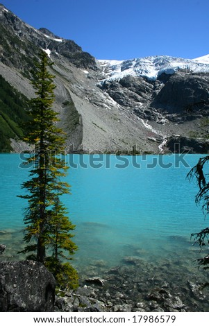 pristine mountain lake near Pemberton, BC