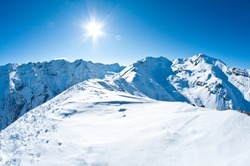 pristine winter mountaintop scenery