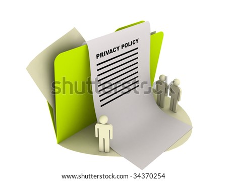 privacy policy icon - stock photo