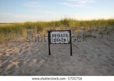 private beach and sign