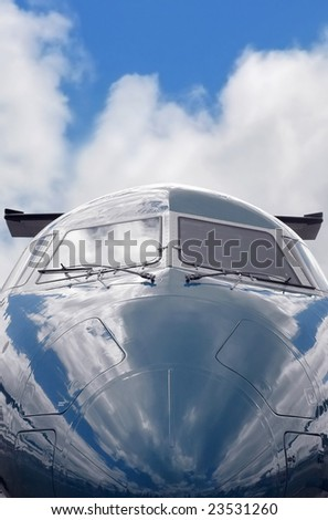 private business jet close-up (gray sky background also available - image ref: 15497461