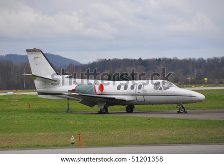 Private Jet At Zurich Airport Stock Photo 51201358  Shutterstock