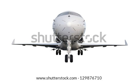 Private Jet Plane Isolated on White Background. Bombardier Global Express
