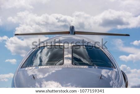 Private Jet shinny windshield #1077159341