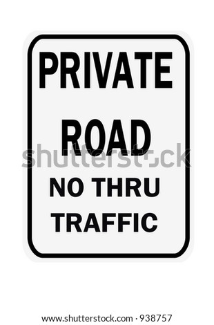 Private Road sign isolated on a white background