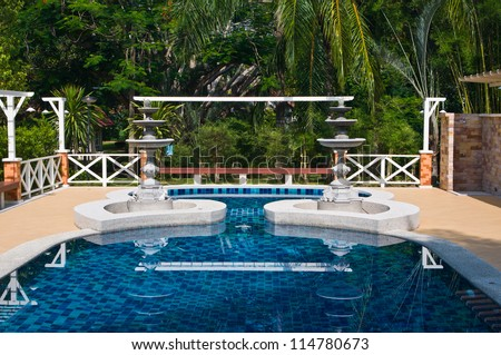 Private swimming pool - stock photo