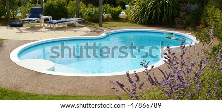 private swimming pool in garden