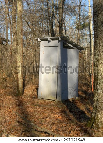 Privy or outhouse for primitive campsite