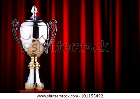 Prize cup against the background