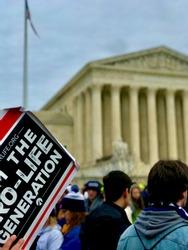 Pro life protest in Washington dc