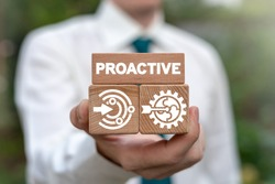Proactive Proactivity Influence Initiative Business concept.