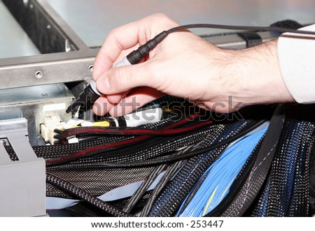 Probing Hand - stock photo