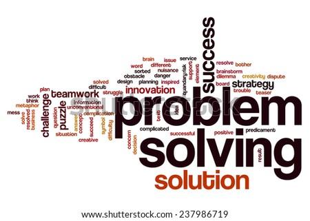 Problem Solving Word Cloud Concept Stock Photo 237986719 ...
