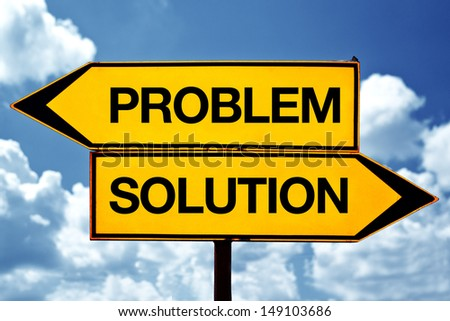 problem versus solution, opposite direction signs