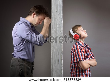 Problems between father and son Foto stock ©